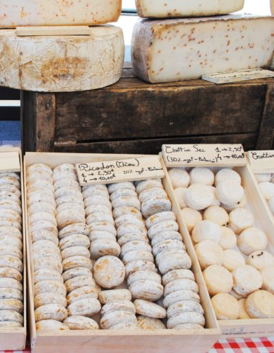 Cheese at the markets in Provence