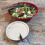 French Summer Salad with creamy dressing